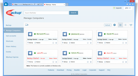 Frequently Asked Questions on Web-based Backup Set Management